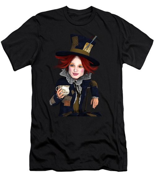 Mad Hatter Portrait Men's T-Shirt (Athletic Fit)