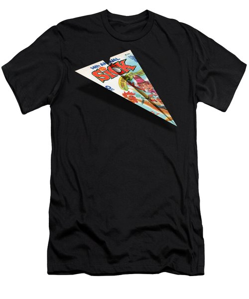 1974 Sick Mad Paper Airplanes Men's T-Shirt (Athletic Fit)