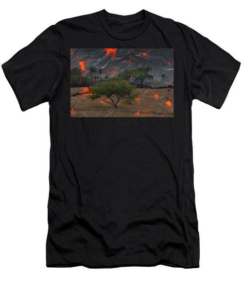 Madam Pele Approaches Men's T-Shirt (Slim Fit) by Lori Seaman