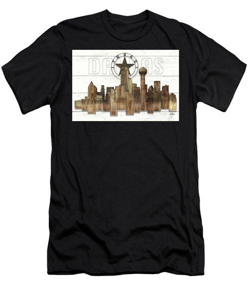 Made-to-order Dallas Texas Skyline Wall Art Men's T-Shirt (Athletic Fit)