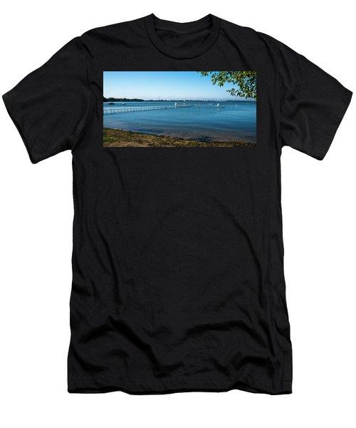Madison Capitol Across Lake Mendota 2 Men's T-Shirt (Athletic Fit)