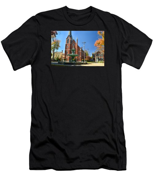Madison Church And Water Fountain Men's T-Shirt (Athletic Fit)