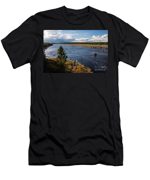 Madison River In Yellowstone National Park Men's T-Shirt (Athletic Fit)