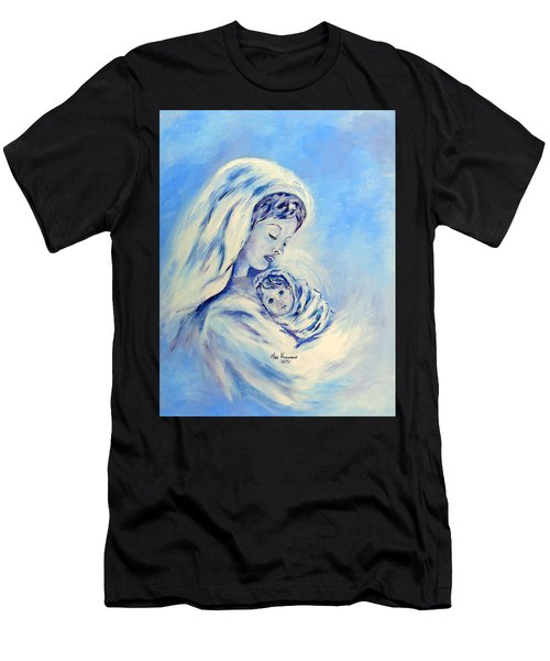 Madonna And Child By May Villeneuve Men's T-Shirt (Athletic Fit)