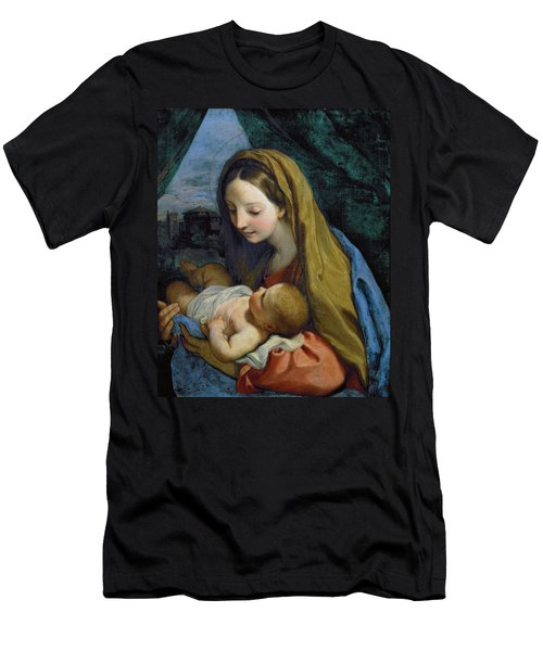 Men's T-Shirt (Athletic Fit) featuring the painting Madonna And Child by Carlo Maratta