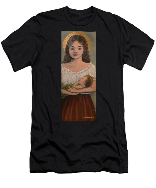 Madonna Of The Red Skirt Men's T-Shirt (Athletic Fit)
