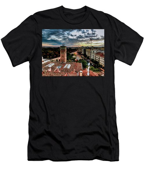 Madrid Sunset Men's T-Shirt (Athletic Fit)