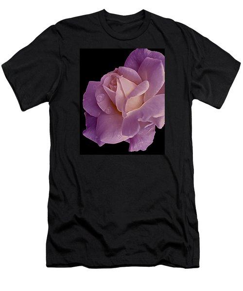 Magenta Queen 8  Men's T-Shirt (Slim Fit) by Lynda Lehmann