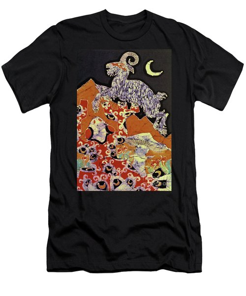 Magic Frog With Goat Men's T-Shirt (Athletic Fit)