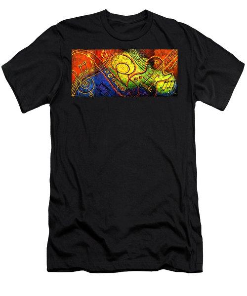 Magic Guitar Men's T-Shirt (Slim Fit) by Leon Zernitsky