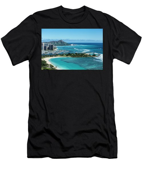 Magic Island To Diamond Head Men's T-Shirt (Athletic Fit)
