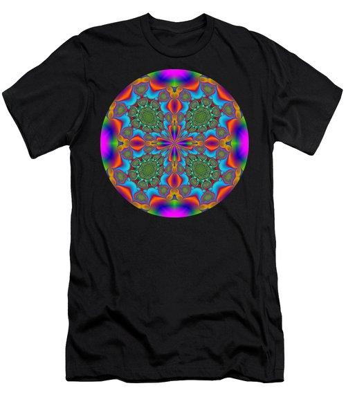 Magic Mandala Fractal Circle Men's T-Shirt (Athletic Fit)