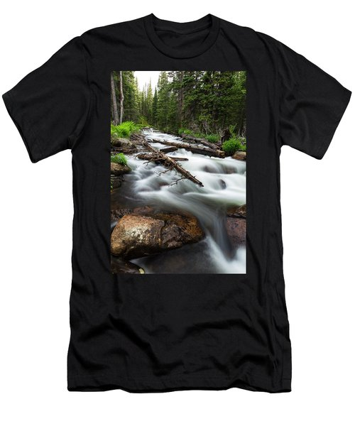 Men's T-Shirt (Slim Fit) featuring the photograph Magic Mountain Stream by James BO Insogna