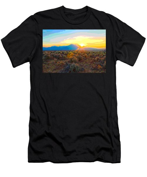 Magic Over Taos Men's T-Shirt (Athletic Fit)