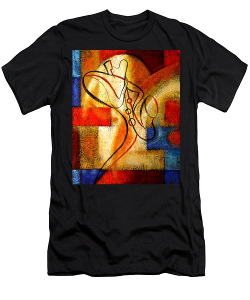 Magic Saxophone Men's T-Shirt (Athletic Fit)