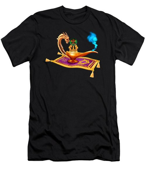 Magical Dragon Lamp Men's T-Shirt (Slim Fit) by Glenn Holbrook