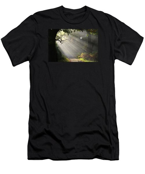 Magical Moment In The Park Men's T-Shirt (Slim Fit) by Barbara Walsh