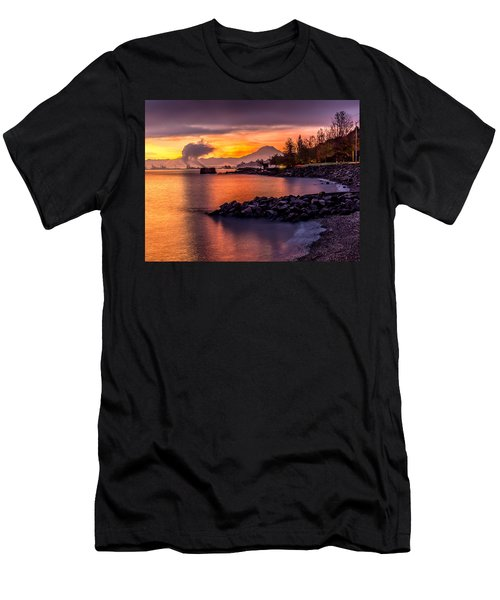 Magical Sunrise On Commencement Bay Men's T-Shirt (Athletic Fit)
