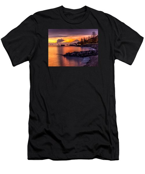 Magical Sunrise On Commencement Bay Men's T-Shirt (Athletic Fit)
