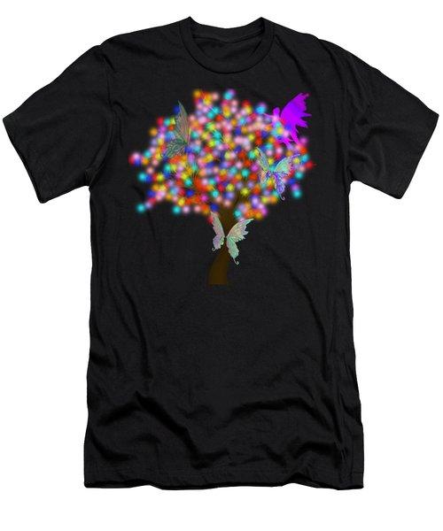 Magical Tree - Digital Art Men's T-Shirt (Athletic Fit)
