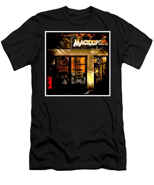 Men's T-Shirt (Athletic Fit) featuring the photograph Magicopolis Window by Michael Hope