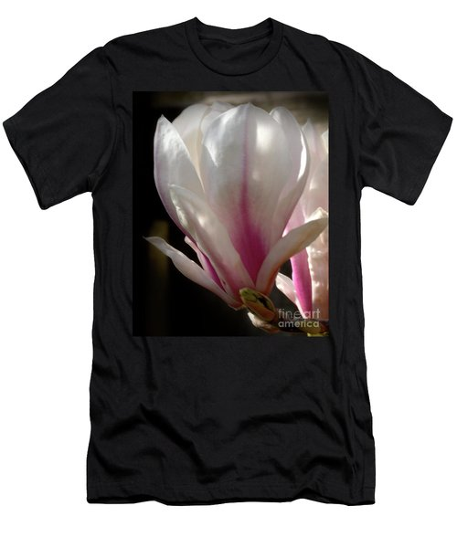 Men's T-Shirt (Slim Fit) featuring the photograph Magnolia Bloom by Stephen Melia