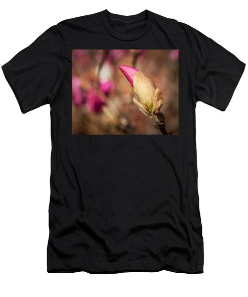 Magnolia Bud Artified Men's T-Shirt (Athletic Fit)