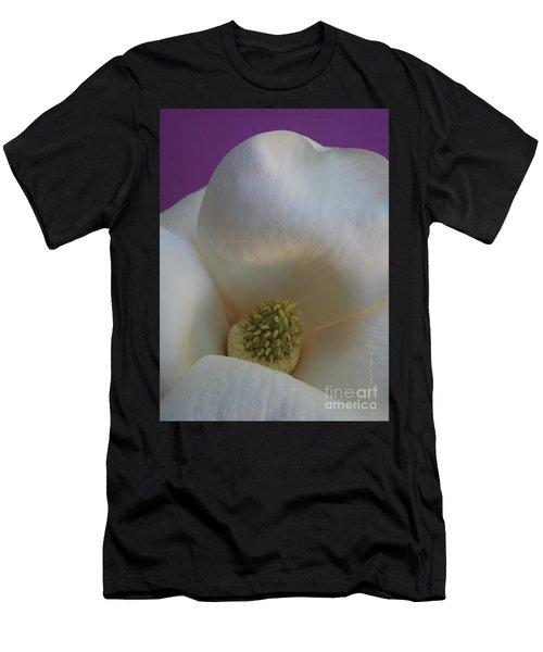 Magnolia Macro Against Purple Men's T-Shirt (Athletic Fit)