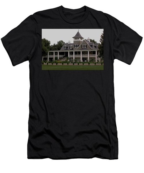 Magnolia Plantation Home Men's T-Shirt (Slim Fit) by DigiArt Diaries by Vicky B Fuller