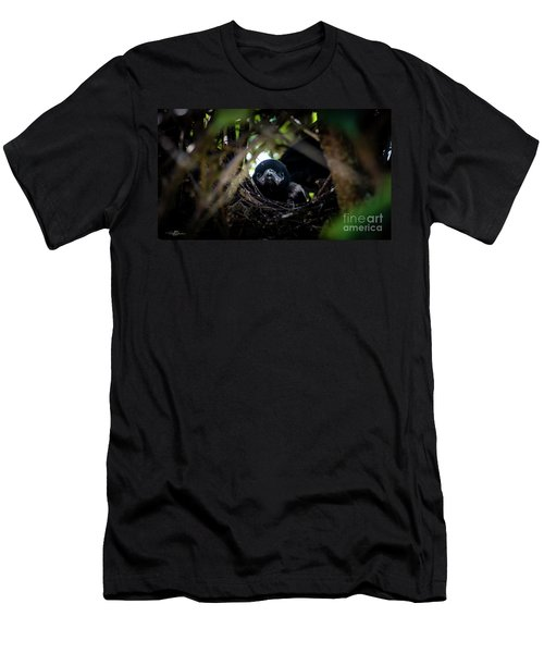 Magpie Nestling's Portrait Men's T-Shirt (Athletic Fit)