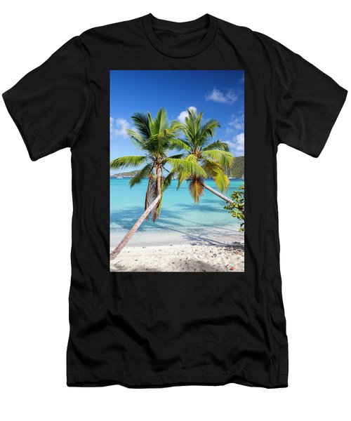 Men's T-Shirt (Athletic Fit) featuring the photograph Maho Bay Palms by Adam Romanowicz