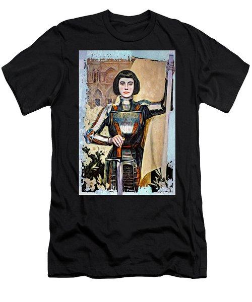 Maid Of Orleans Men's T-Shirt (Slim Fit) by Pennie McCracken