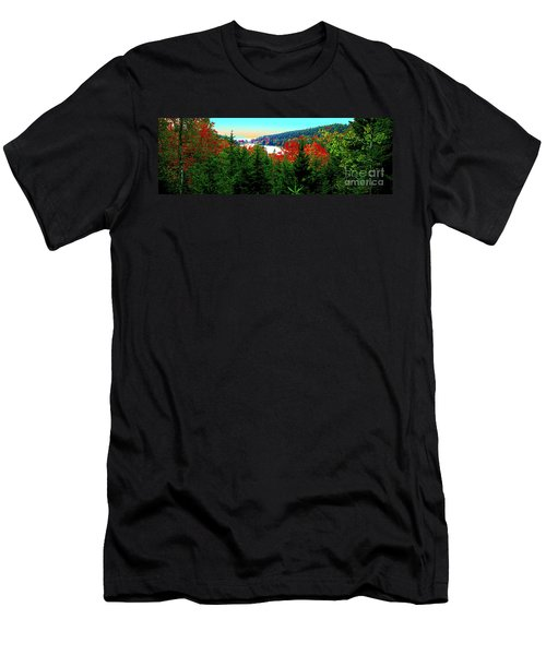 Men's T-Shirt (Athletic Fit) featuring the photograph Maine Long Pond Acadia  by Tom Jelen