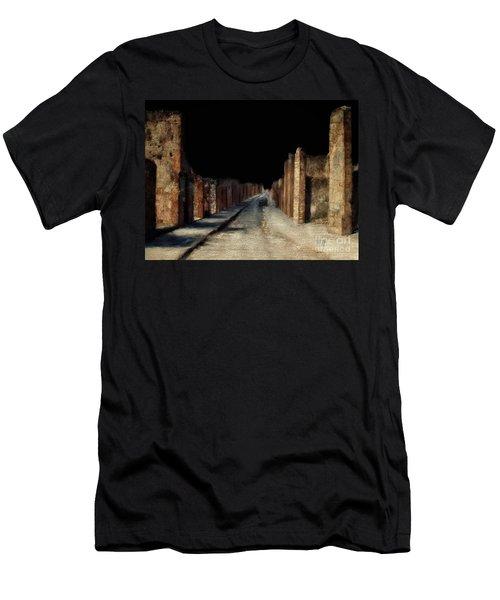 Men's T-Shirt (Slim Fit) featuring the digital art Main Street, Pompeii by Lois Bryan
