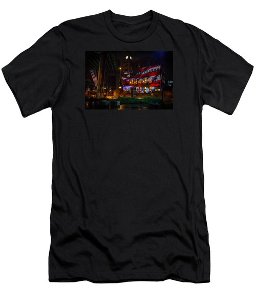 Main Street Station At Night Men's T-Shirt (Athletic Fit)