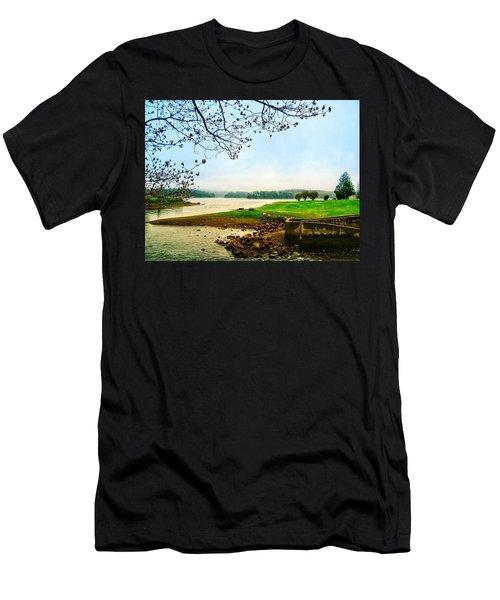 Maine Fog  Men's T-Shirt (Athletic Fit)