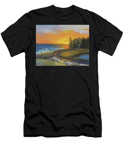 Maine Ocean Sunrise Men's T-Shirt (Athletic Fit)