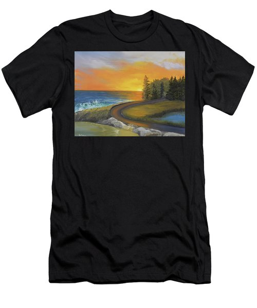 Maine Ocean Sunrise Men's T-Shirt (Athletic Fit)