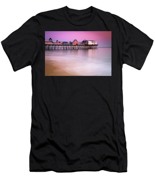 Maine Old Orchard Beach Pier Sunset  Men's T-Shirt (Athletic Fit)