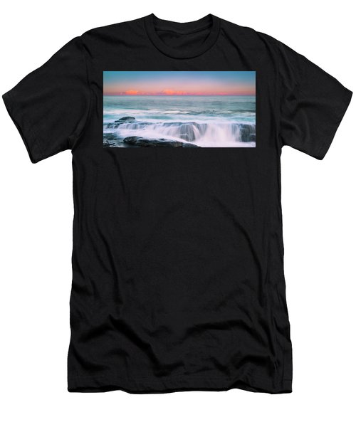 Maine Rocky Coastal Sunset Panorama Men's T-Shirt (Athletic Fit)