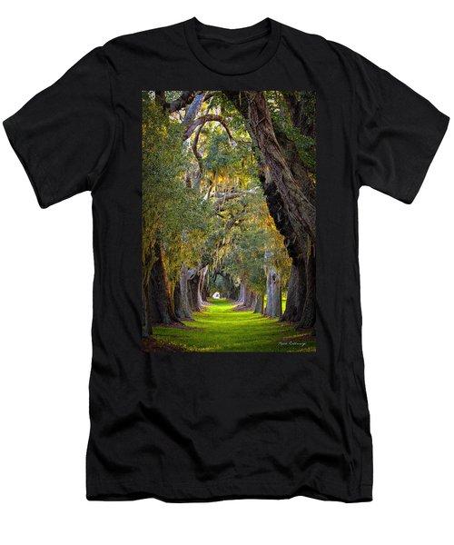 Majestic Ave Of Oaks St Simons Island Ga Tree Art Men's T-Shirt (Athletic Fit)
