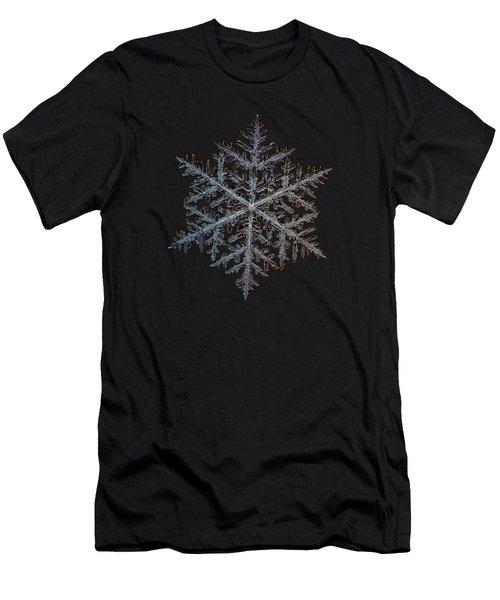 Majestic Crystal, Black Version Men's T-Shirt (Slim Fit) by Alexey Kljatov