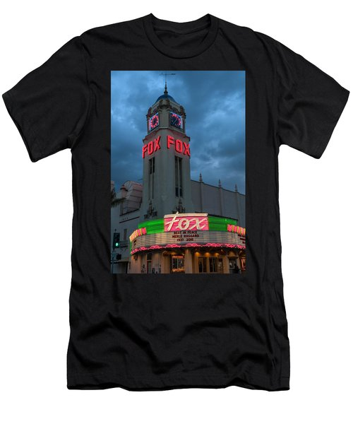 Majestic Fox Theater Neon Tribute Merle Haggard Men's T-Shirt (Athletic Fit)