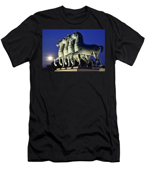 Majestic Horses In The Light Of The Moon Men's T-Shirt (Athletic Fit)