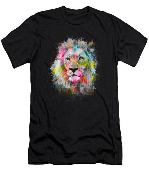 Majestic Male Lion Men's T-Shirt (Slim Fit) by Carsten Reisinger