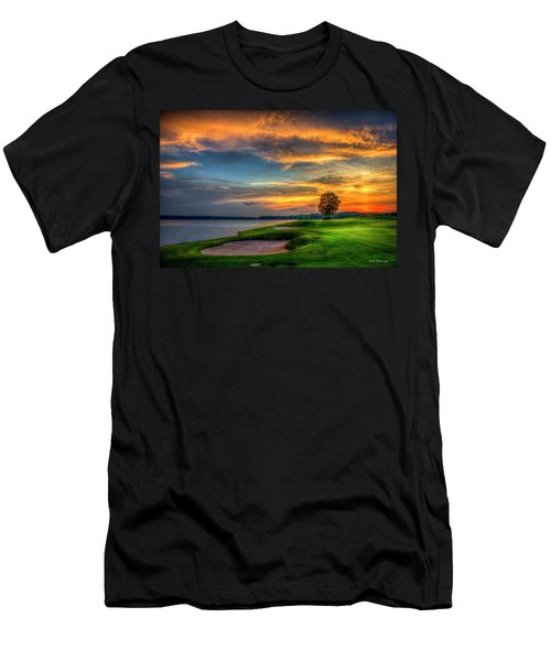 Men's T-Shirt (Slim Fit) featuring the photograph Majestic Number 4 The Landing Reynolds Plantation Art by Reid Callaway
