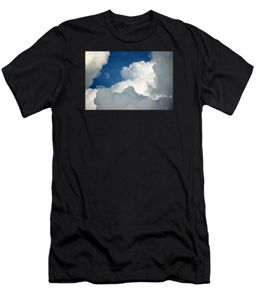 Majestic Storm Clouds With Moon Men's T-Shirt (Athletic Fit)