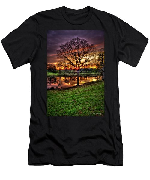 Men's T-Shirt (Athletic Fit) featuring the photograph Majestic Sunrise Reflections by Reid Callaway