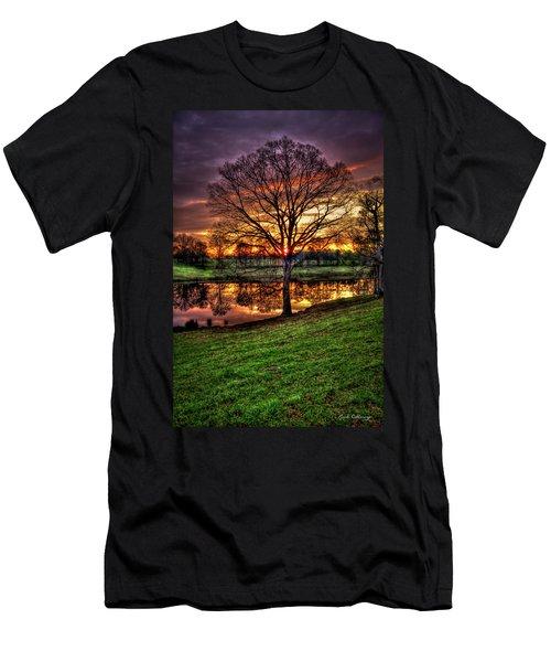 Majestic Sunrise Reflections Art Men's T-Shirt (Athletic Fit)