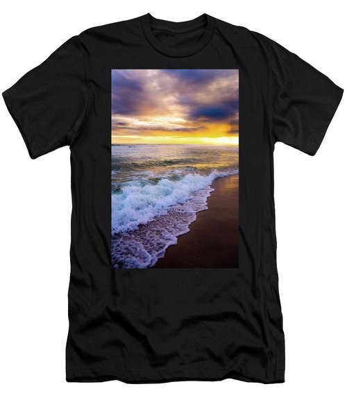 Men's T-Shirt (Slim Fit) featuring the photograph Majestic Sunset In Paradise by Shelby Young